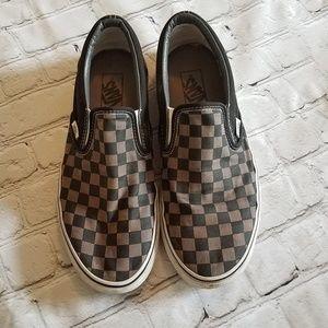 Men's Checkered Slip on Vans